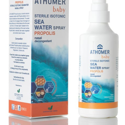 Seawater nasal spray with propolis